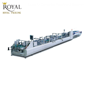 automatic folding carton box gluing machine for 4 &6 corner box