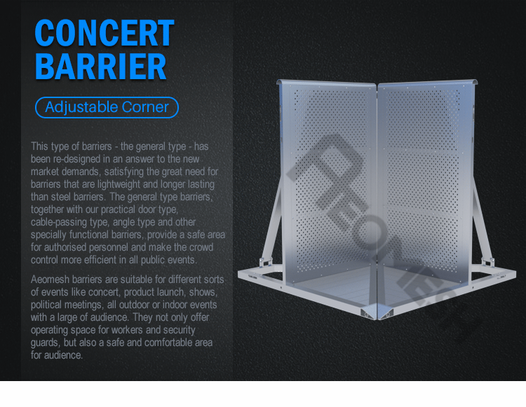 AEOBARRIER Adjustable Type Concert Barrier