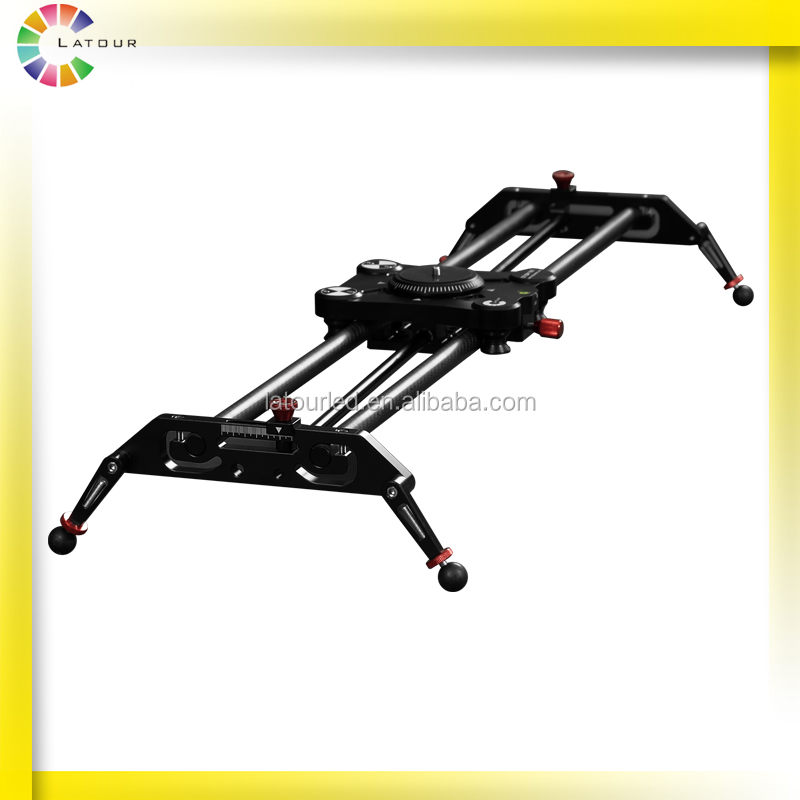 Portable Carbon fiber 80cm following shooting parallax track wide angle shoot DSLR camera slider