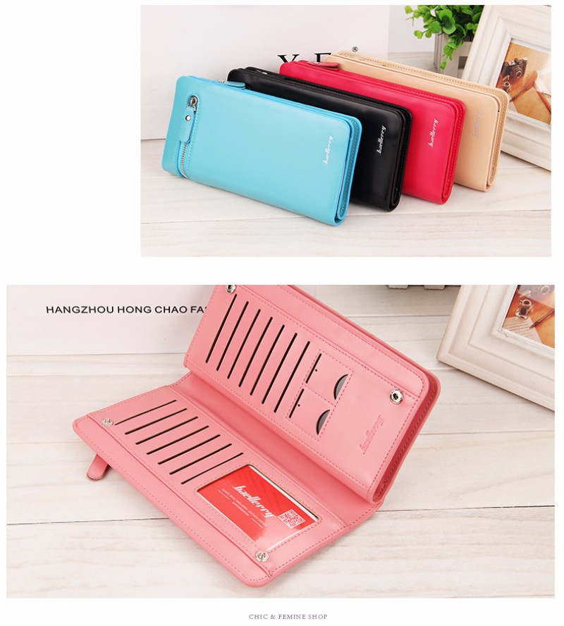 Wholesale Fashionable Long Section PU leather Women Wallet