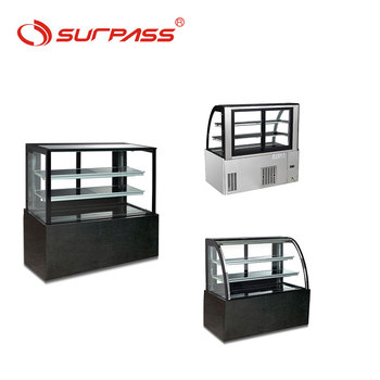 New design cheap cake display counter cake cabinet for sale
