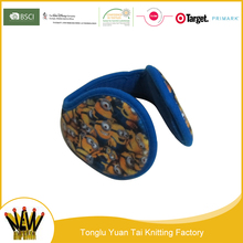 2016 new product Colorful printing foldable winter ear muff 2016