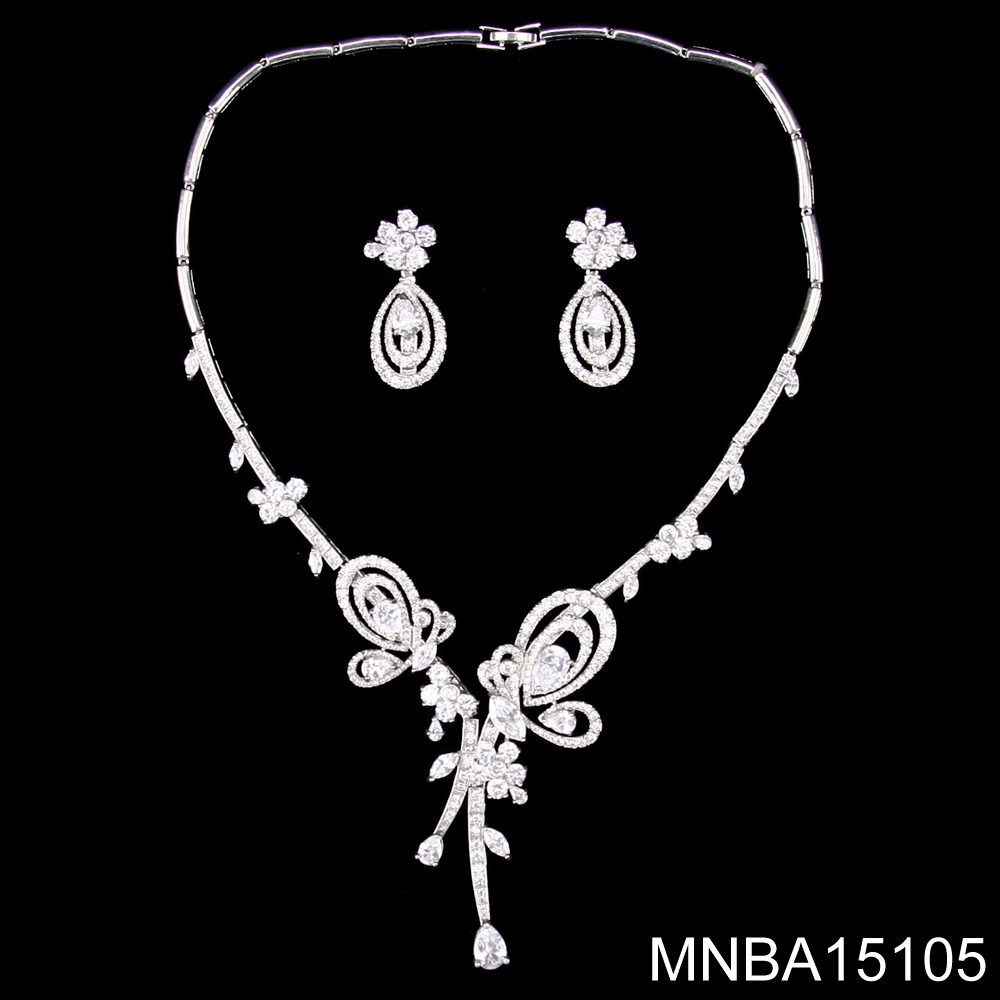 New fashion arabic sparkling zircon bridal jewelry set