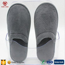 Wholesale High Quality Coral Fleece Skidproof Slipper Close Toe Gray Slippers
