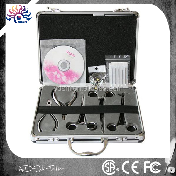 PRO Body Piercing Kit , complete piercing tools piercing needles sets with teaching CD