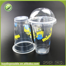 500ml biodegradable disposable unbreakable PP plastic cups for tea