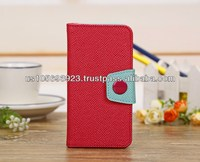 Korean Style Wallet Credit Card Leather Case For IPHONE 5C 8 colors