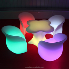Glowing Waterproof IP68 LED Furniture/ LED Coffee Table/ LED Chairs and Tables for Party Events
