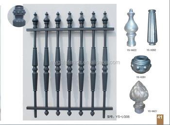 Yishujia Factory Artful Decor Aluminum Garden Gate And Fence Wall Designs,  Aluminum Grill Fence Panels