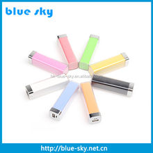 2015 relax power bank 2600mah lipstick power bank charger