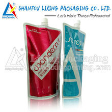 LIXING PACKAGING convenient airtight shampoo packaging standing up spout pouch bag