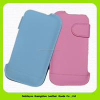 15101 Candy color unique RFID protective leather mobile phone case for Samsung S4