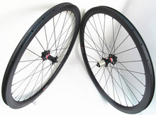 700C Full carbon cyclocross bicycle wheels 38mmx25mm clincher wheelset with Novatec D711SB D712SB Disc hub 28H Competitive