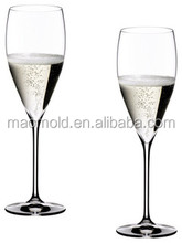 Vintage Champagne Glass Glasses - Set of 2 wine glasses clear glassware for wine