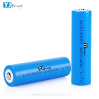 china supplier 18650 3.7V 3.2V 1800mah 2000mah 2400mah 2600mah 2800mah li-ion battery