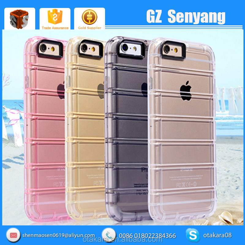 Wholesale TPU Material Transparent Crystal Shockproof Phone Case for iPhone 6 6s Plus