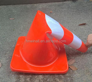 Different Sizes PVC Road used pink traffic control cones