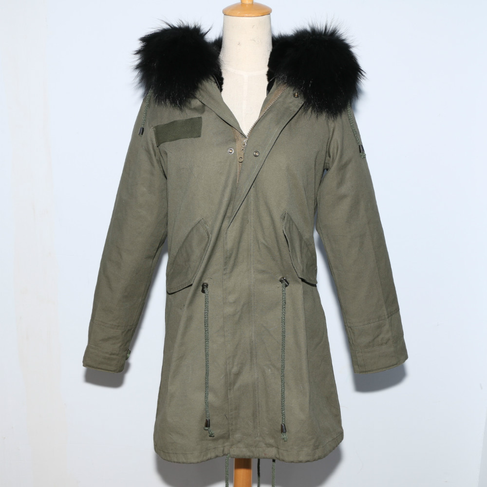 fashion winter parka jacket with fox fur hood for ladys