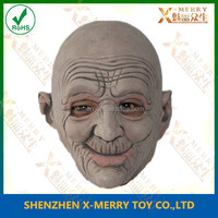 X-MERRY Unisex Adult Old Man Face Full Head Mask For Halloween /Fancy Dress Up Mask