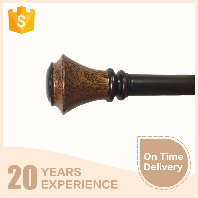 High quality wood material new design curtain pole finial