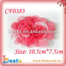 CF0383 Pretty shabby chic changing color rose flower sequence fabric flower for ladies