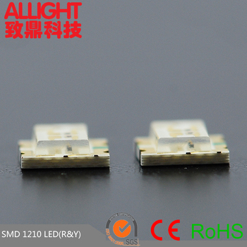 Bicolor LED.Dongguan LED,1210 smd led chip red yellow