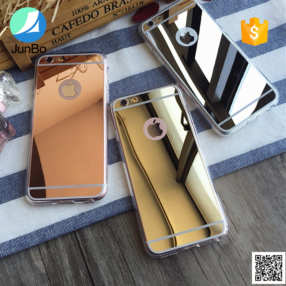 Popular mirror phone case for iphone 6 electroplate tpu back case cover