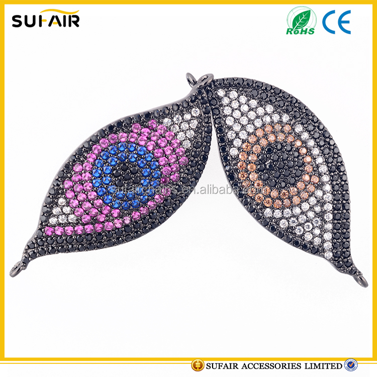 2017 hot sale diamond paved evil eye zircon pendant jewelry