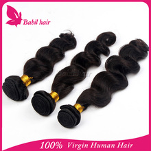 cheap and high quality100 indian human hair weave extensions artificial hair