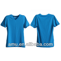 2014 Fashion Promotional tshirt Wholesale deep v neck t shirts for men
