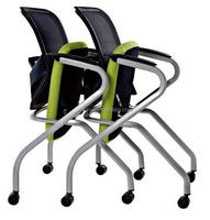 New Offier folding arm office mesh chairs for training room