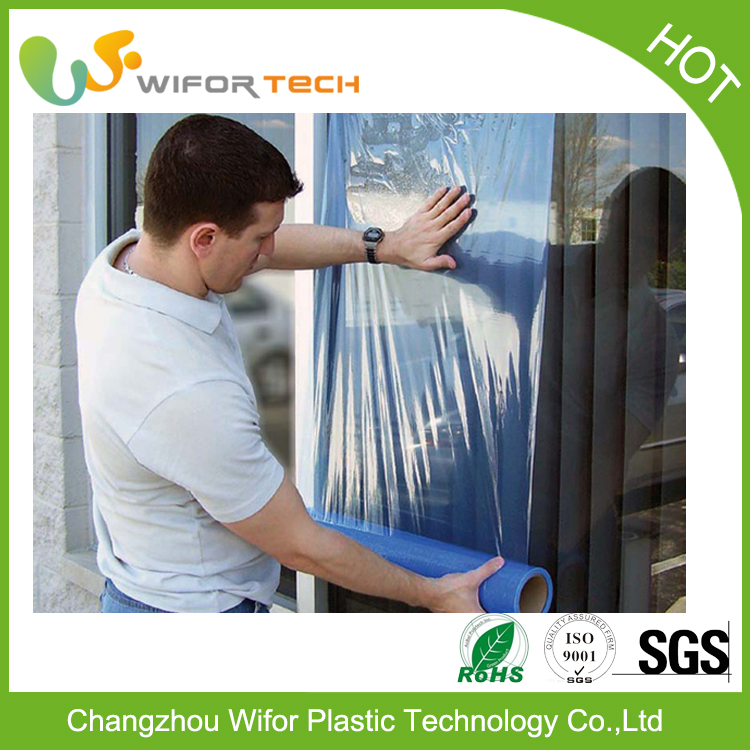 Free Sample Transparent Window Glass Pe Masking Film