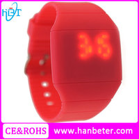 Cheap men's women's led light up watches for touch screen kids led watches with light