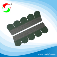 best quality fashionable green roofing laminated asphalt shingle