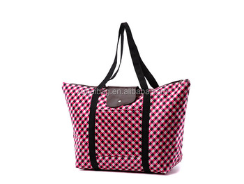 Wholesale custom lady Zipper PVC and satin Cosmetic pouch tote bags