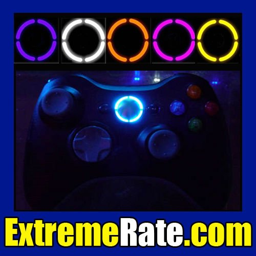 For Xbox 360 Wireless Controller Ring of Light Led Mod Kit