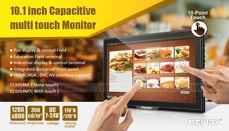 10.1 Inch IPS Multi-Touch Display Capacitive Touch Screen Controller