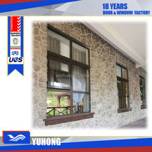 Aluminum awning decorative window screen grill design with double glass