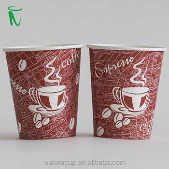 Nature Cup hot drink disposable paper cup coffee cup vending cup 6oz 180ml