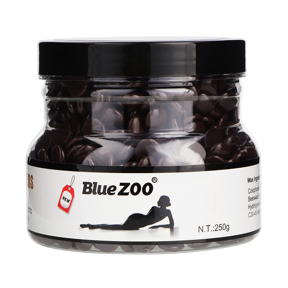 BLUEZOO Newest 250g 10 Flavors high quality hard depilatory wax hair removal suit for all skins