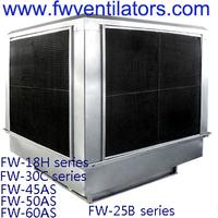 Industrial big airflow top discharge 380v evaporative air conditioner