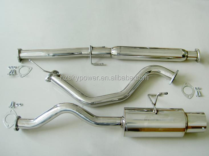 94-01 INTEGRA LS RS GS HIGH FLOW SMOOTH 76MM CATBACK EXHAUST SYSTEM + SILENCER