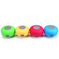 Hot!Universal Mini Portable Waterproof Shower Bluetooth Speaker Wireless Audio Amplifier with Suckers Music Sound Box MP3 Player