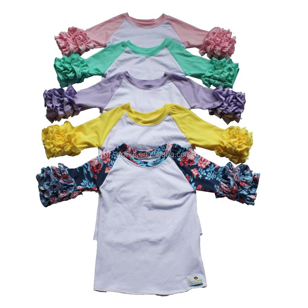Wholesale kids raglan shirt baby icing ruffle raglan buy for Wholesale children s t shirts
