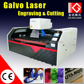 Galvo Laser Marking Machine for Leather/Fabric