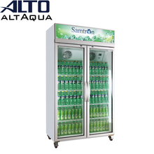 680W 1100L TOP mounted commercial refrigerator with showcase glass door