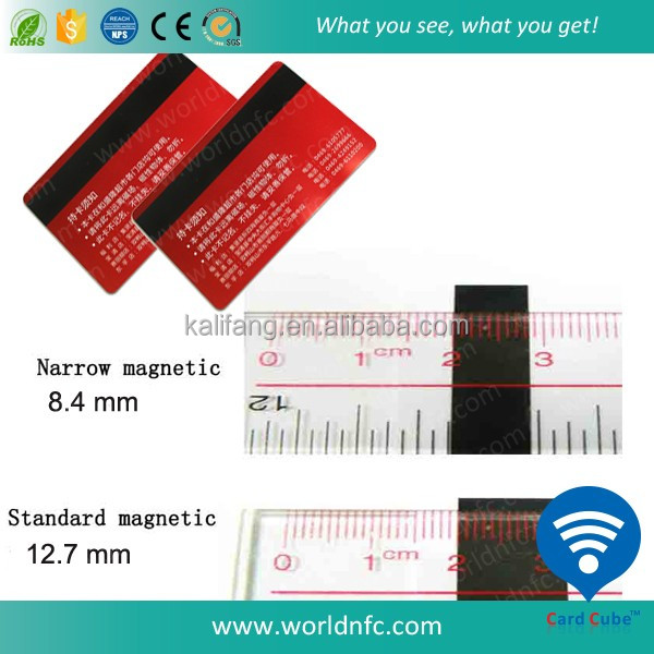 CR80 Hico magnetic Stripe Plastic pvc card for hotel