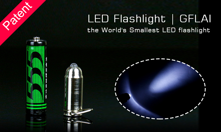 GFLAI Patent Product New Design World's Smallest Bulk Bullet Shape Led Flashlights
