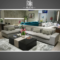 New Trend Italian Style Sofa Set Living Room Furniture With Goose Down Cushion
