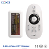 Hot selling Wireless 4 288w RF DC24V CCT Dimmer WIFI LED controller